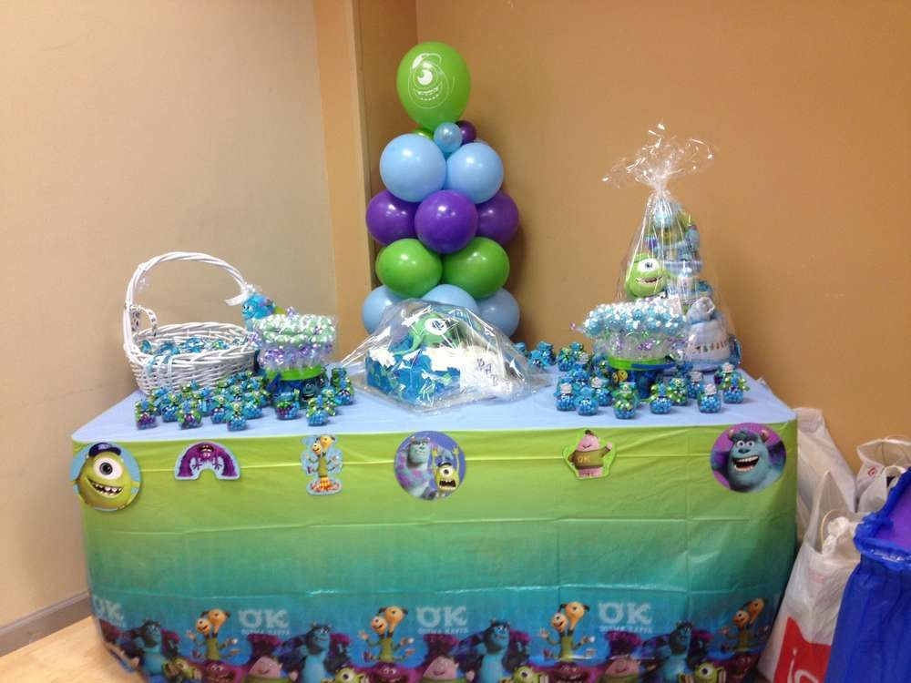 monsters inc Baby Shower Party Ideas | Baby shower parties, Shower ...