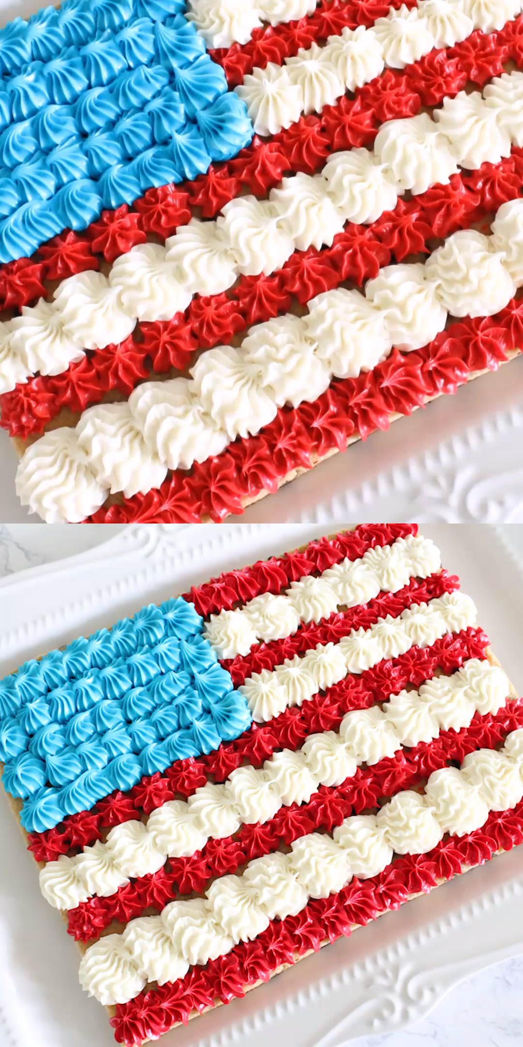 American Flag Cookie Cake Recipe #labordaydesserts