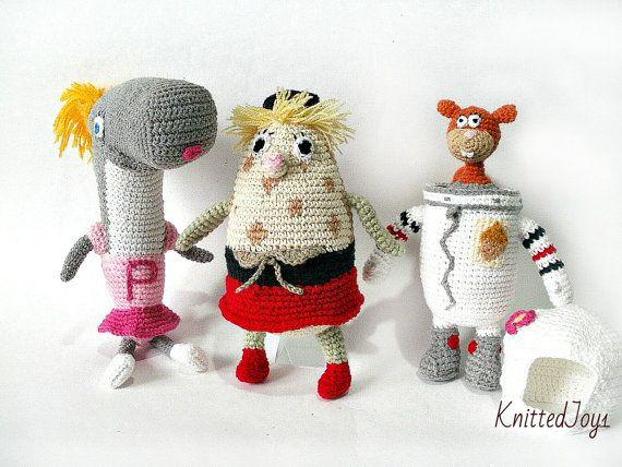 Set toys Spongebob and friends Sandy Cheeks  Pearl by KnittedJoy1