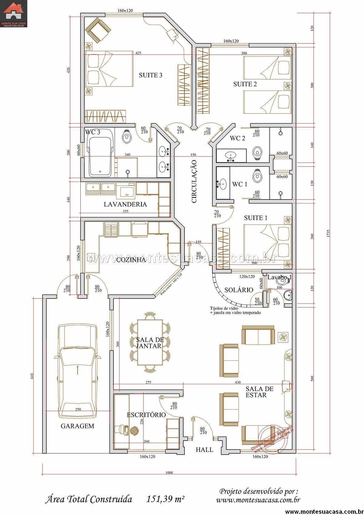 Casa 0 quartos projetos e fachadas for Casa floor