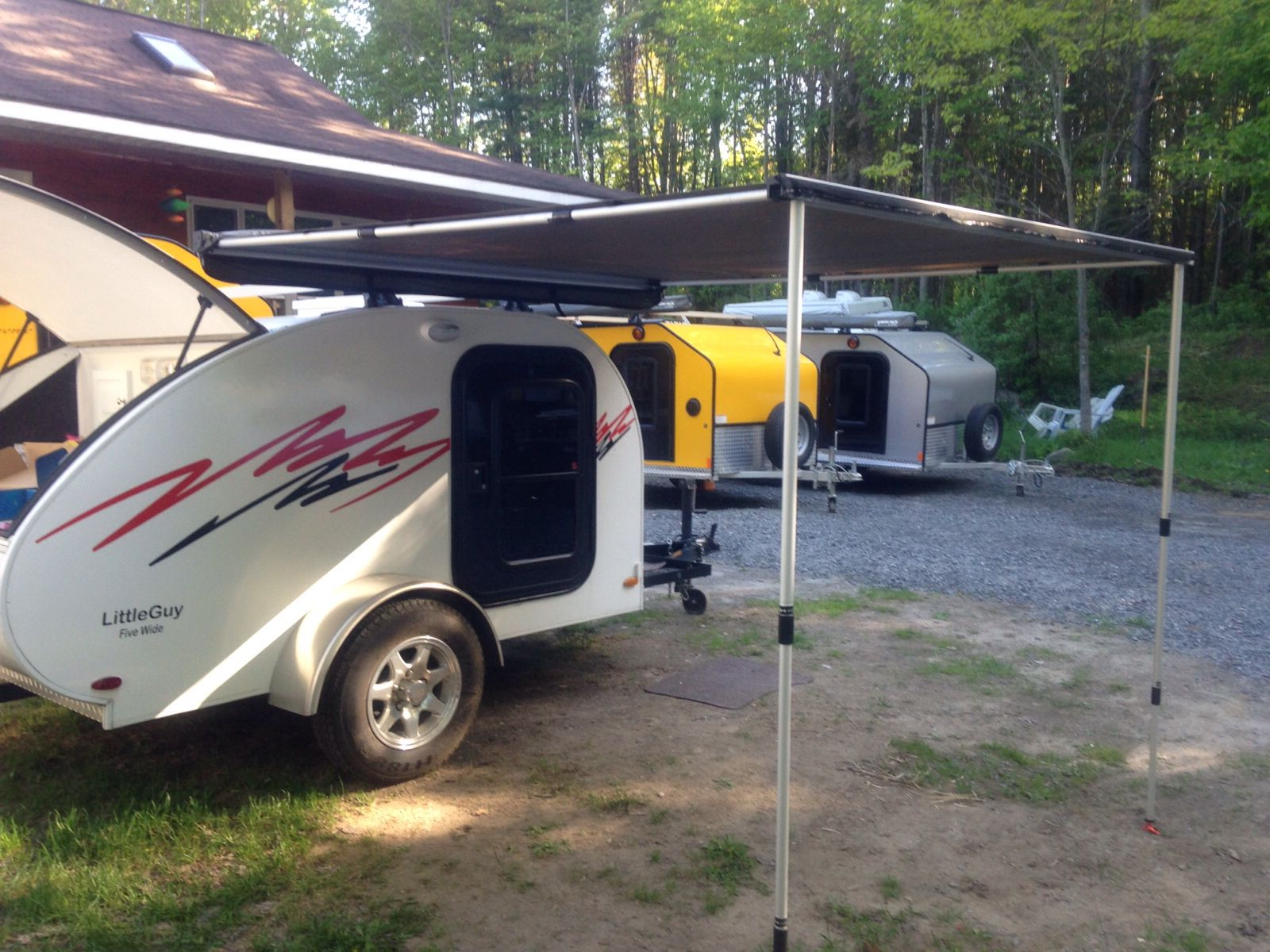 Little Guy 5 Wide with roof racks and awning | Teardrop ...