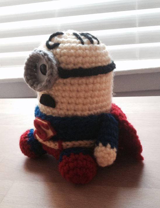Superman Minion PDF Pattern Crochet for Amigurumi Doll Plush | Häkeln