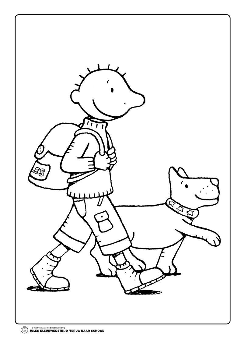 Jules Rugzak Hond Peuter Thema Thema Terug Naar School