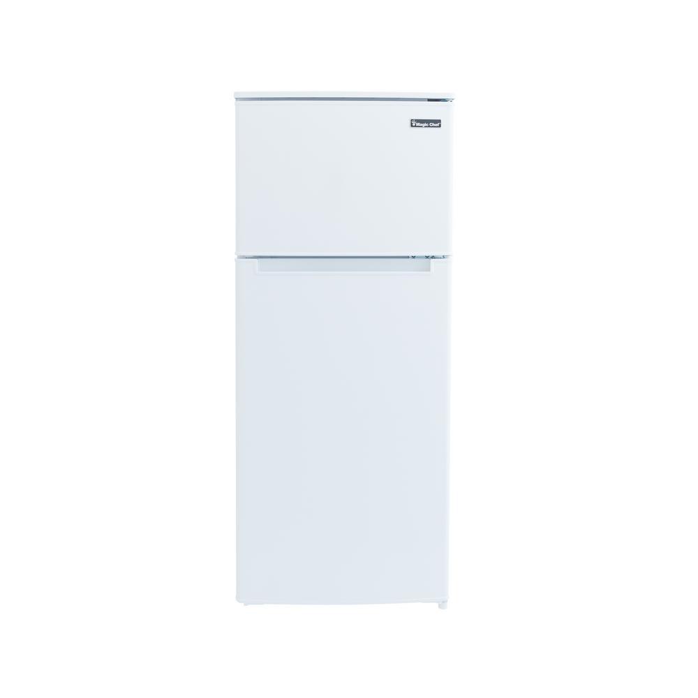 Magic Chef 4 5 Cu Ft 2 Door Mini Fridge In White With Freezer Hmdr450we The Home Depot In 2020 Magic Chef Mini Fridge Glass Refrigerator
