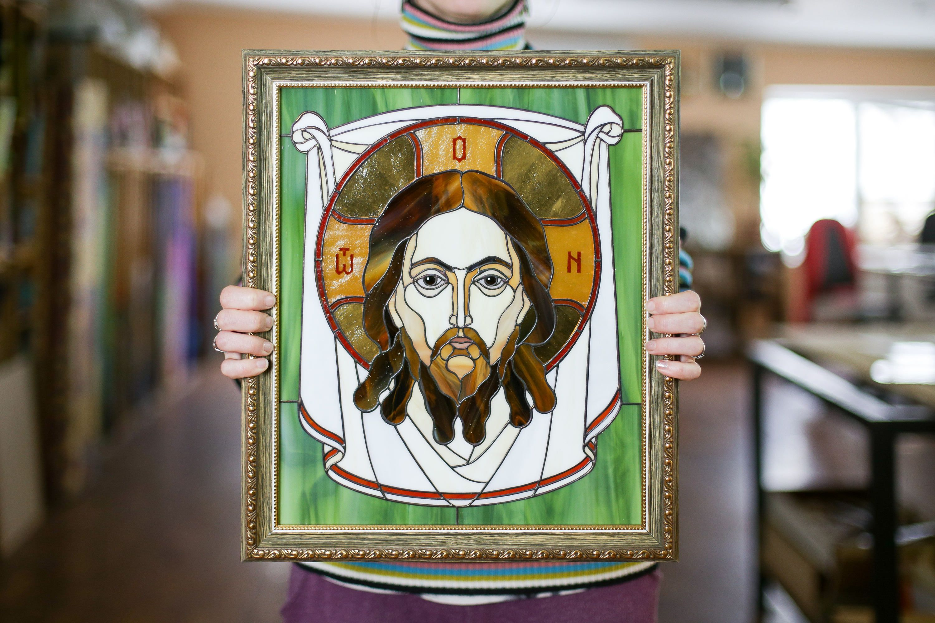 Jesus christ stain glass easter gifts jesus wall art jesus christ stain glass easter gifts jesus wall art negle Gallery