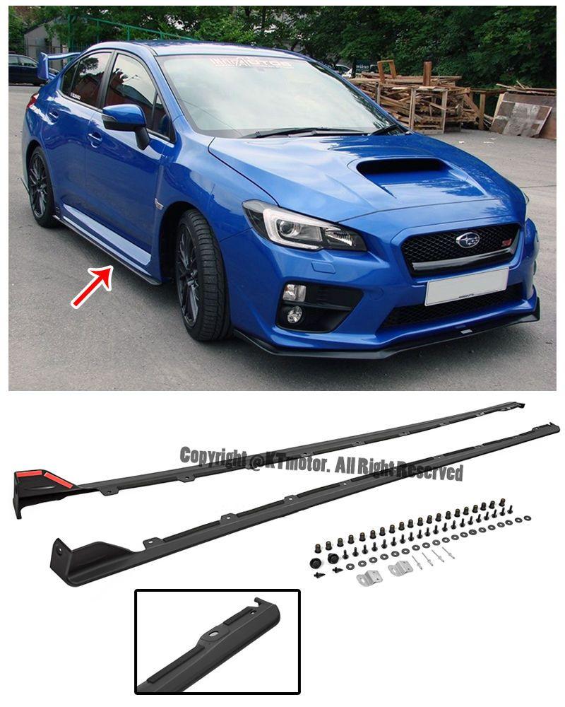 For 15-Up Subaru Impreza WRX STi JDM Style Rocker Panels Side Skirts