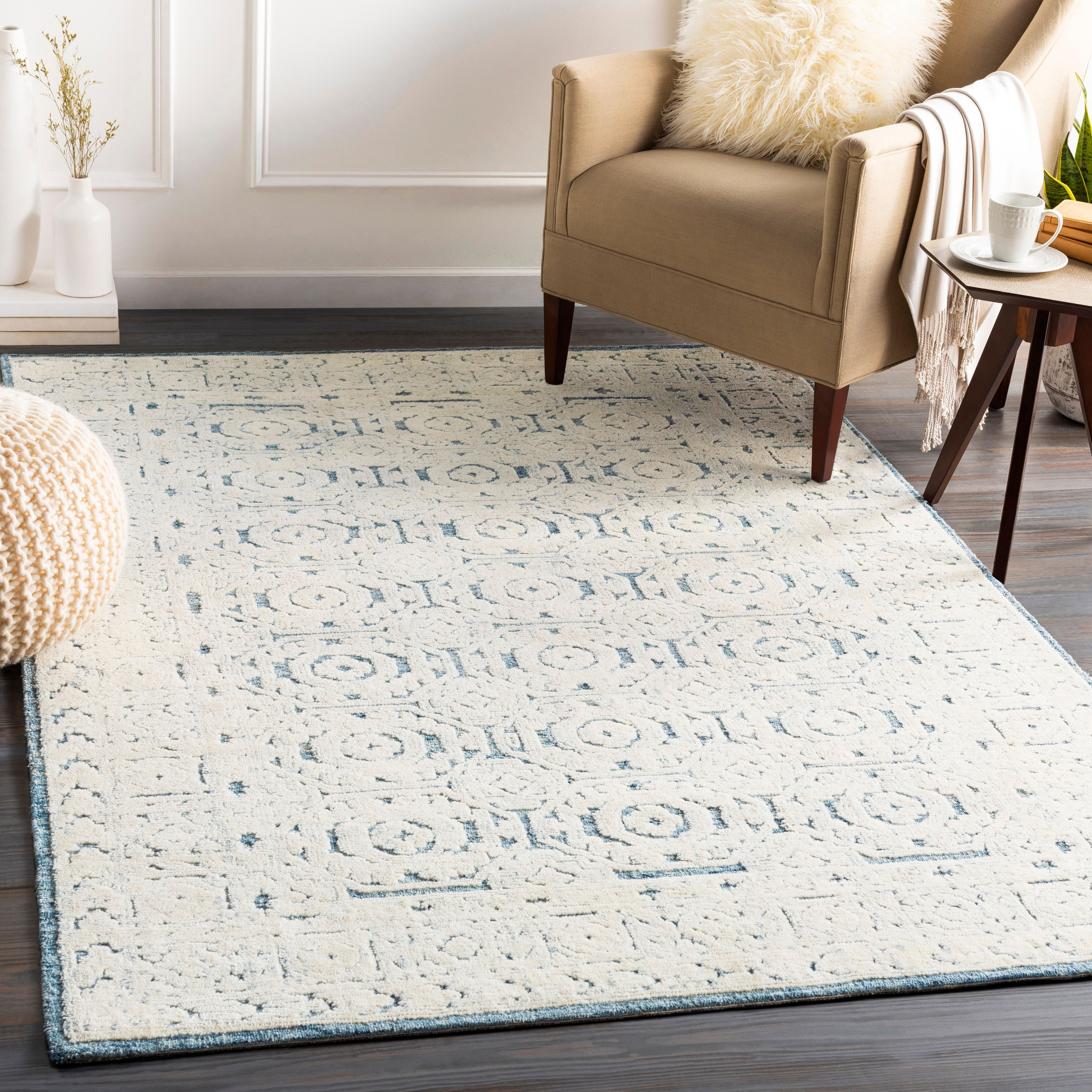 Home Accent Lovetta 5 X 7 6 Area Rug Ashley Furniture Homestore Farmhouse Area Rug Area Rugs Rugs 5 by 7 area rugs