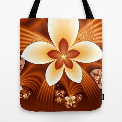 Fantasy Flowers Fractal by Gabiw Art as a high quality Tote Bag. Worldwide shipping available at Society6.com.