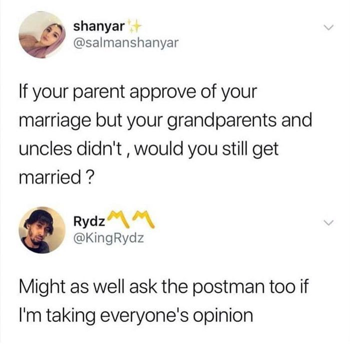 What's the postman's opinion?