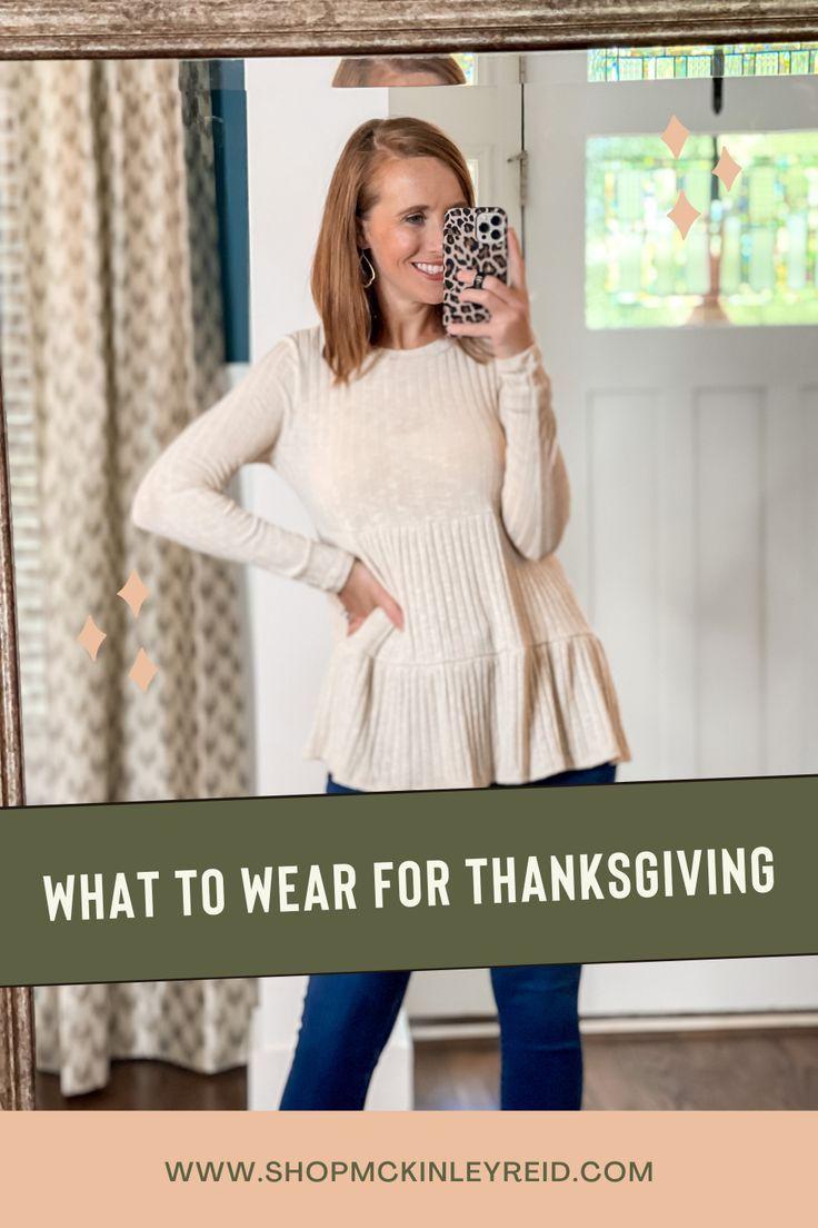 Thanksgiving Dinner Outfit Ideas   McKinley Reid Boutique