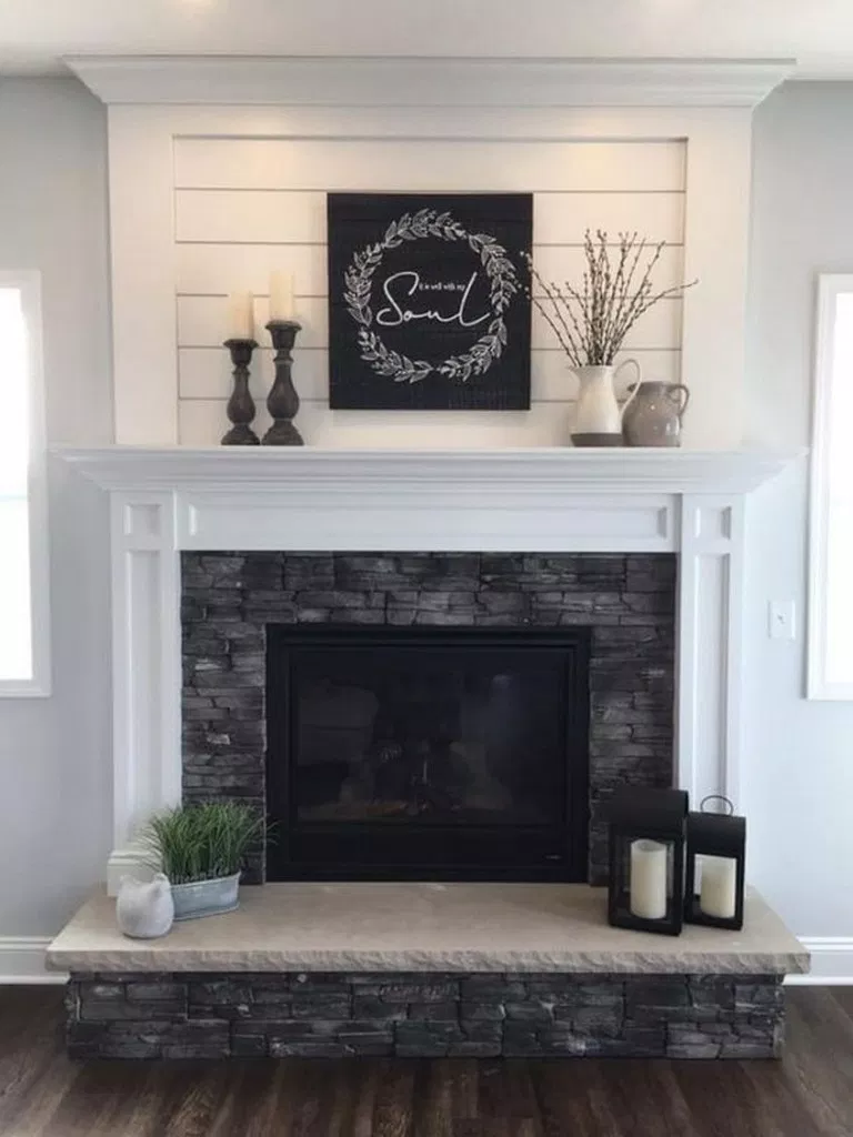 New No Cost Fireplace Remodel Farmhouse Tips If A Room Has A Hearth It S Usually The Focal Poin Farmhouse Fireplace Mantels Living Room Remodel Home Fireplace