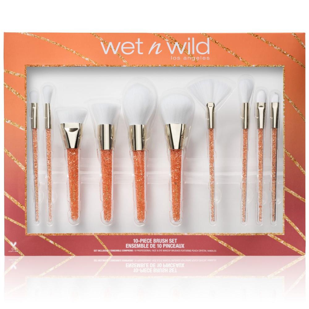 10 Piece Makeup Brush Set | Wet n wild, Brochas de
