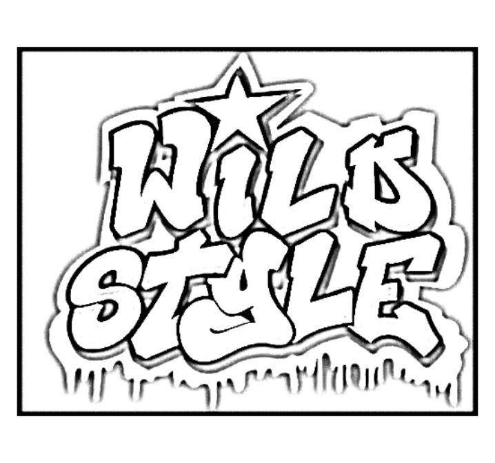 Logo From The Movie Wild Style Coloring Books
