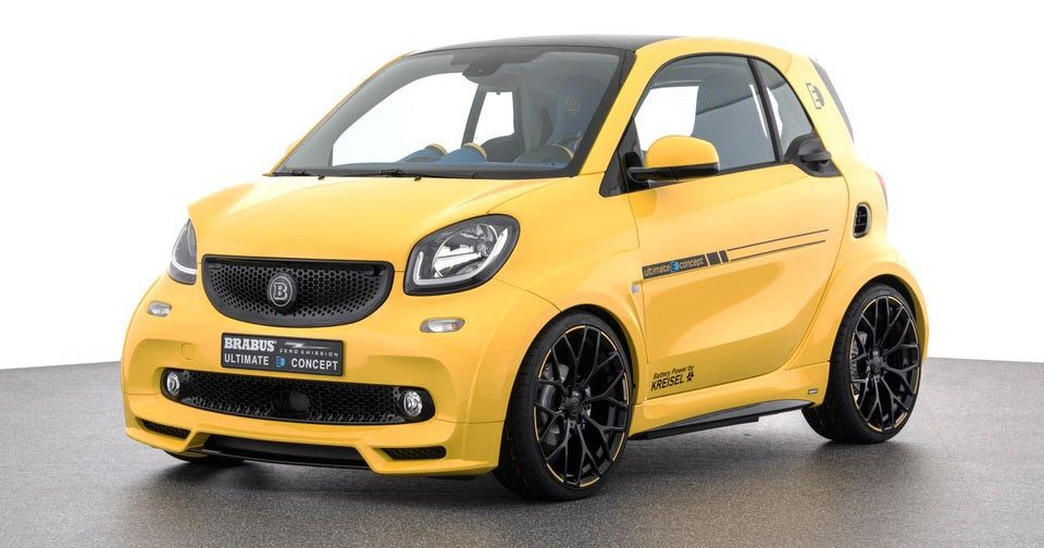 Brabus Unveils Fully Electric Ultimate E Concept In Frankfurt Carscoops Smart Fortwo Smart Brabus Smart Car