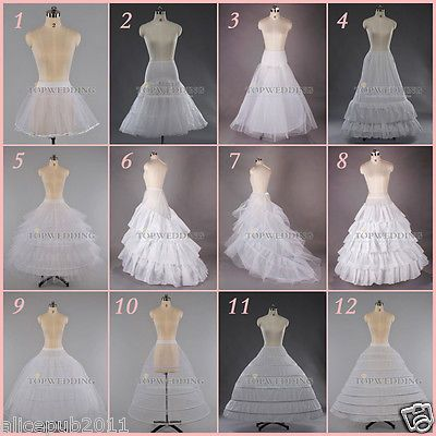 White A Line Hoop / Hoopless Bridal Petticoat Wedding Dress ...