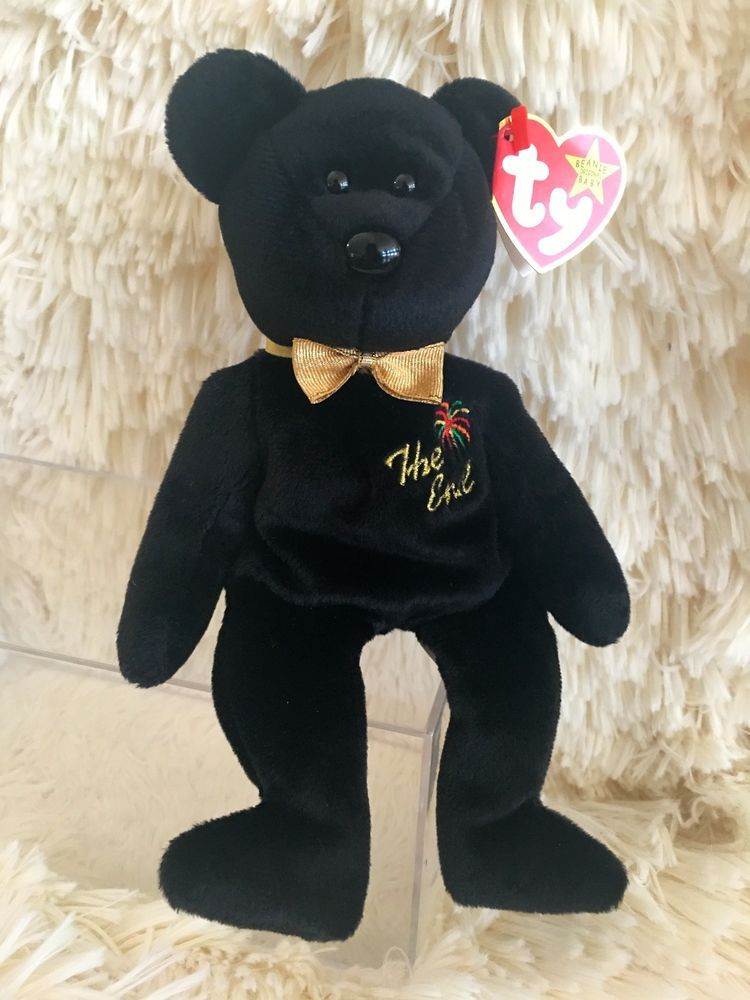 """52b43183e Details about Ty Beanie Babies """"THE END"""" Bear Retired Flat Tush Tag ..."""