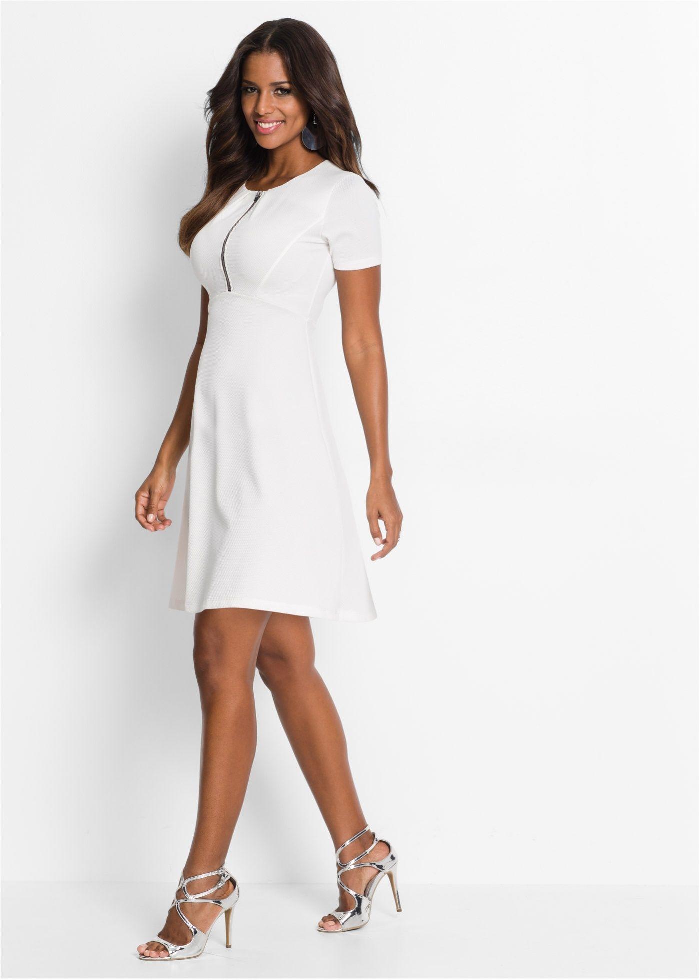 Kleid weiß - BODYFLIRT boutique jetzt im Online Shop von bonprix