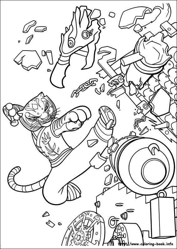 Kung Fu Panda 2 coloring picture | Coloring Pages | Pinterest | Colorear