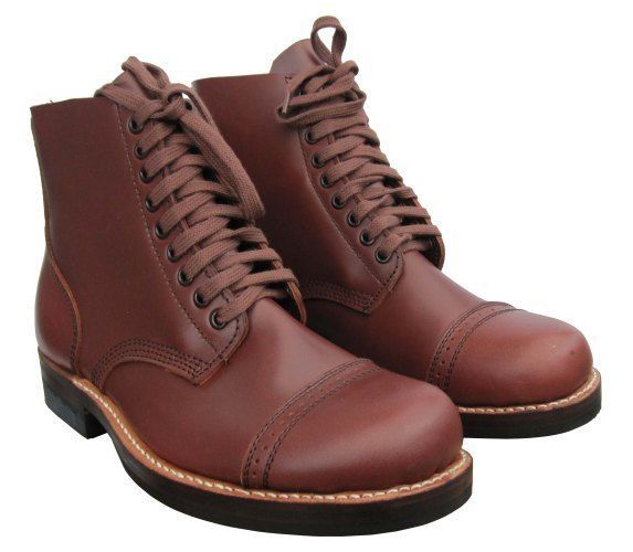 64f1f76ca050f US Army WW2 Repro Leather 1939 SERVICE SHOES- All Sizes American Brown Low  Boots #Unbranded