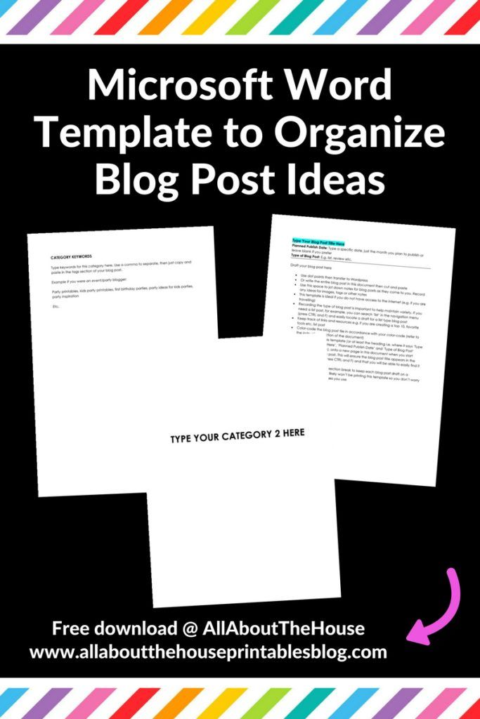 How to keep blog post ideas organized and color coded using - free download word template
