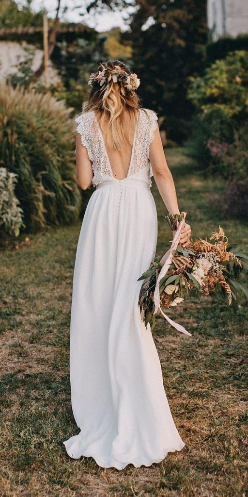 24 Lace Boho Wedding Dresses To Inspire You | Wedding Dresses Guide