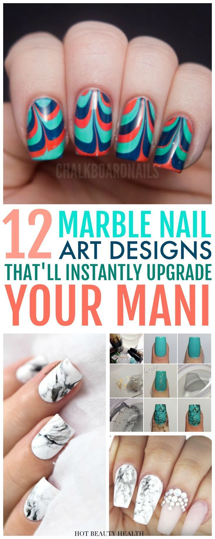 12 Marble Nail Art Designs That Will Make You Scream Omg Water