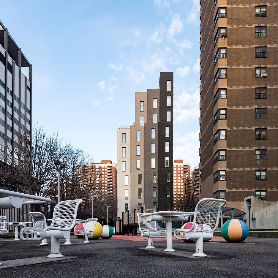 """New York architecture firm nArchitects has released new photos of its modular micro-unit residential building that is intended to serve as a """"systemic new paradigm"""" for cities facing an affordable housing crisis. Read the full story on dezeen.com/USA #architecture #NewYork #USA #apartments by dezeen"""