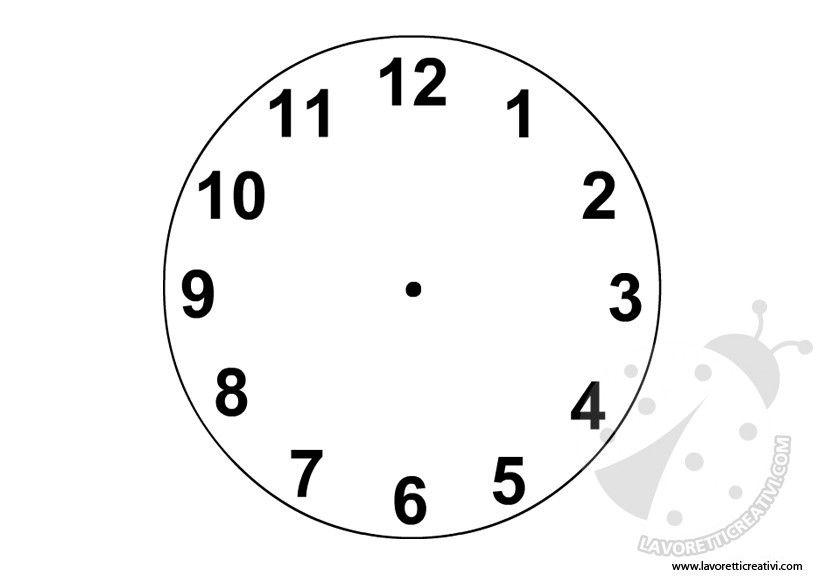 Sagoma Orologio Sagome Utili Per Realizzare Un Orologio Di Carta Con
