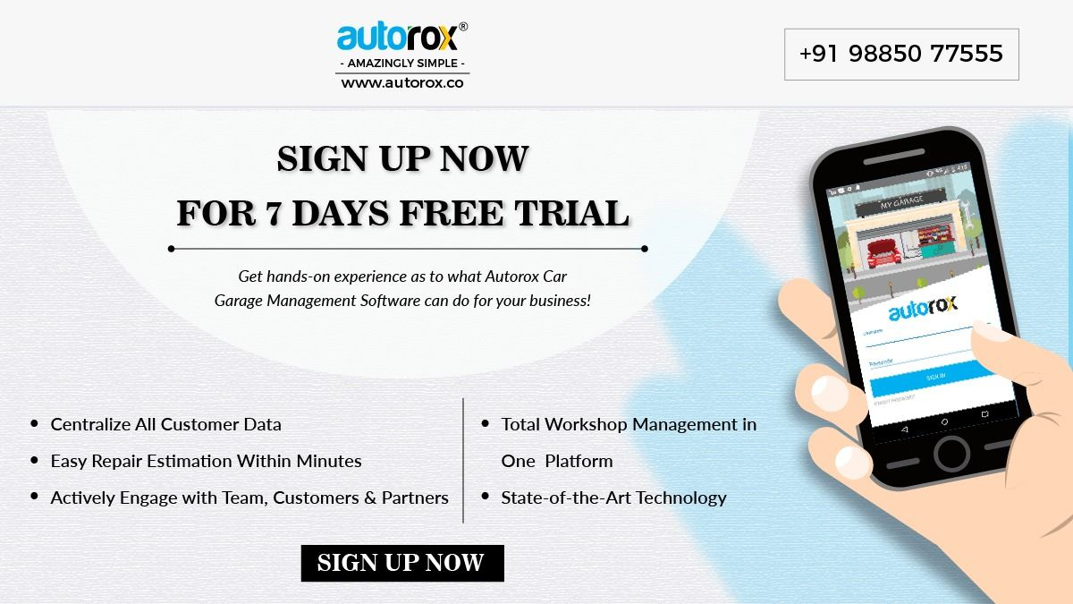 Autorox cargarage management software with easy repair