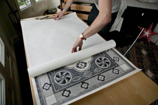 #Art Carpet with Bic Pencils
