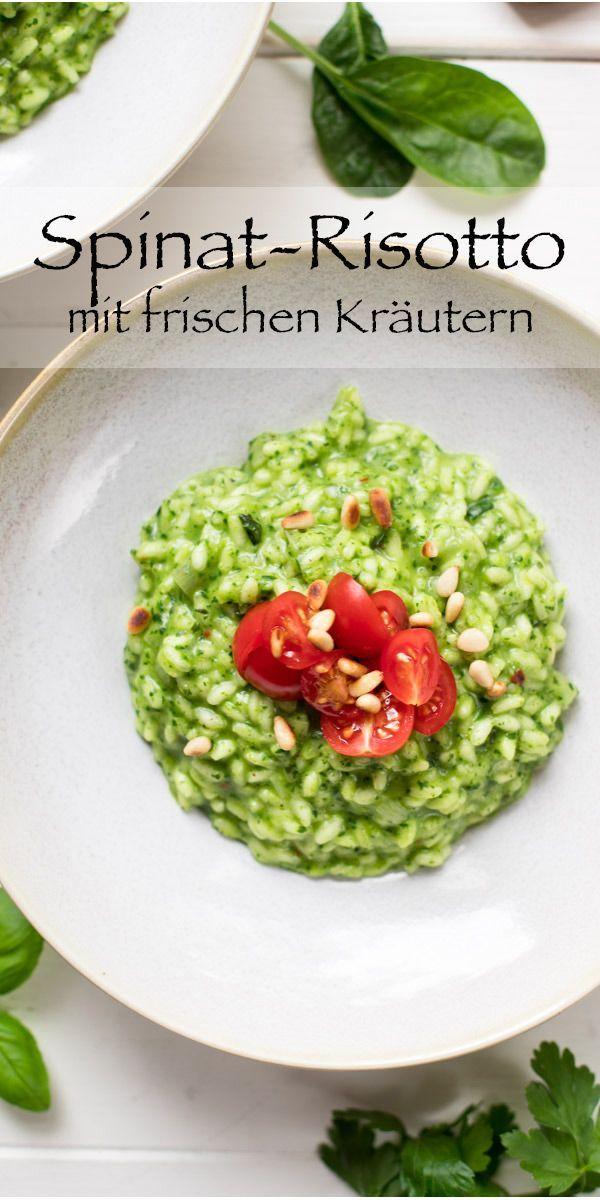 Spinat-Risotto mit frischen Kräutern #czechrecipes
