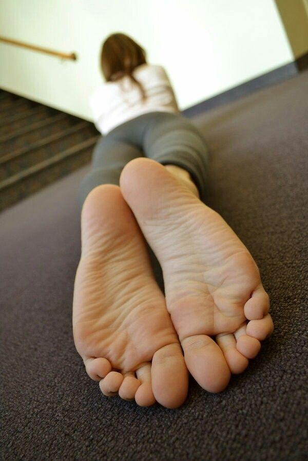 Girl peeing on garage floor