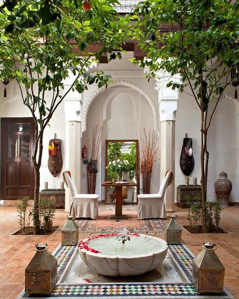 Style exotique du maroc pisos patios exteriores for Jardines patios exteriores