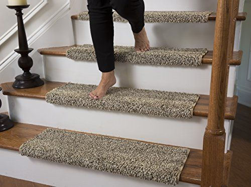 Best Caprice Bullnose Carpet Stair Tread With Adhesive Padding 400 x 300