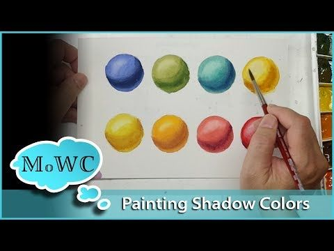 How To Paint Intense Shadow Colors In Watercolor Watercolor