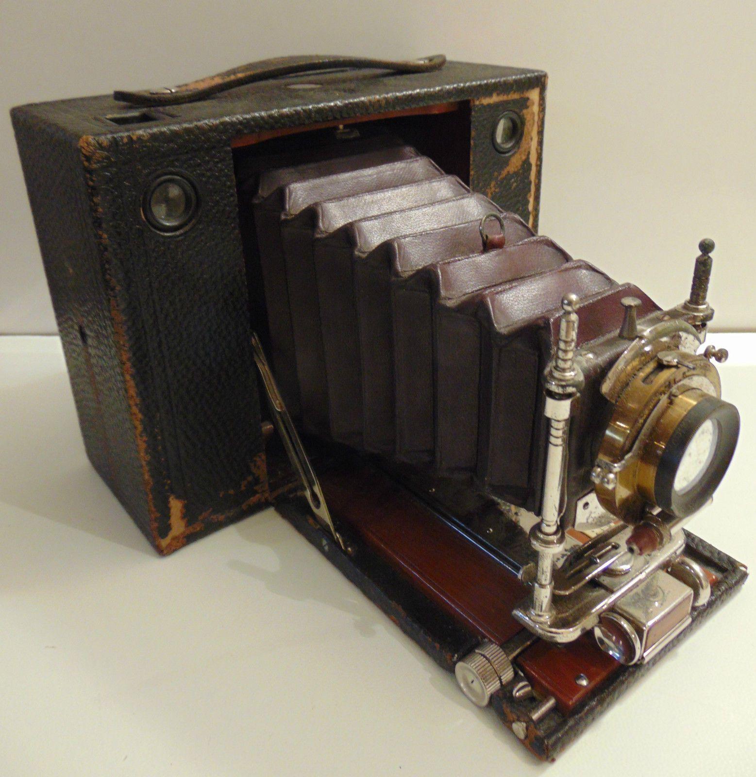 ancien appareil photo kodak n 4 cartridge soufflet