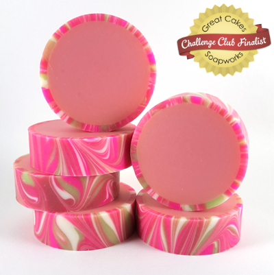 Japanese Cherry Blossom Rimmed Soap by Brittany Warwick