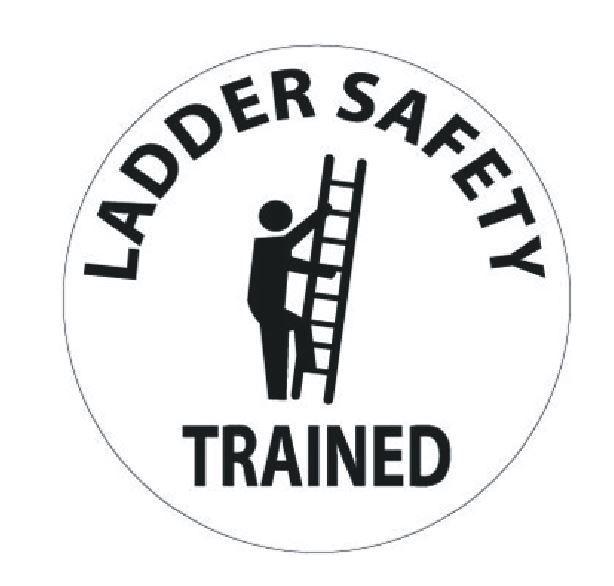 1 79 Ladder Safety Trained Hard Hat Decal Hardhat Sticker Helmet