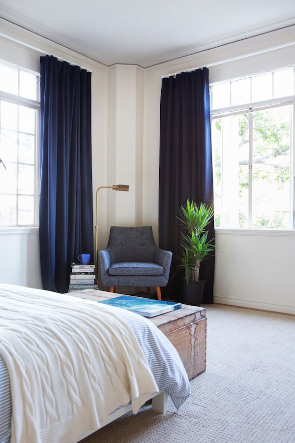 Navy And Grey Bedroom Curtains