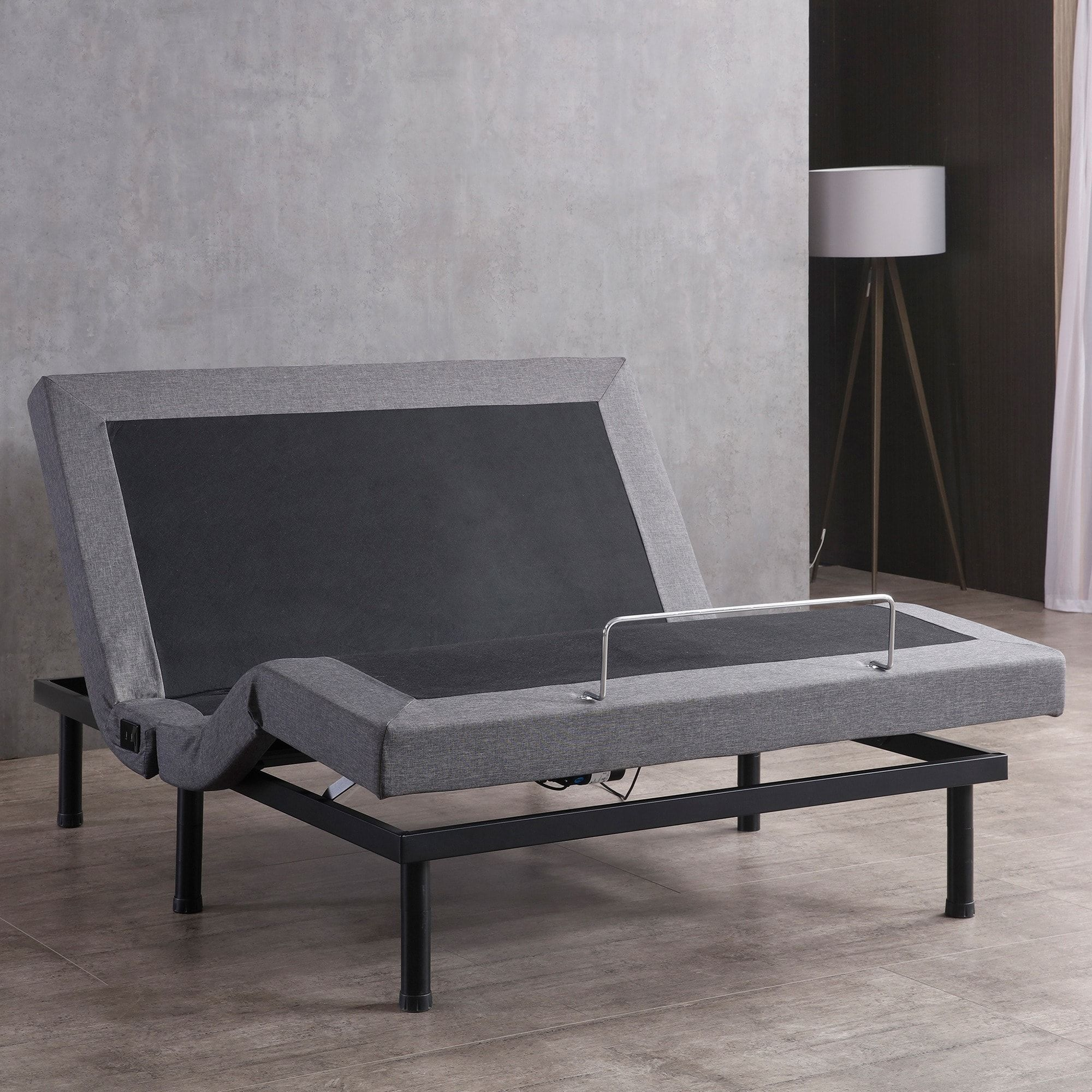 Classic Brands Adjustable Bed Base With Massage Wireless Remote