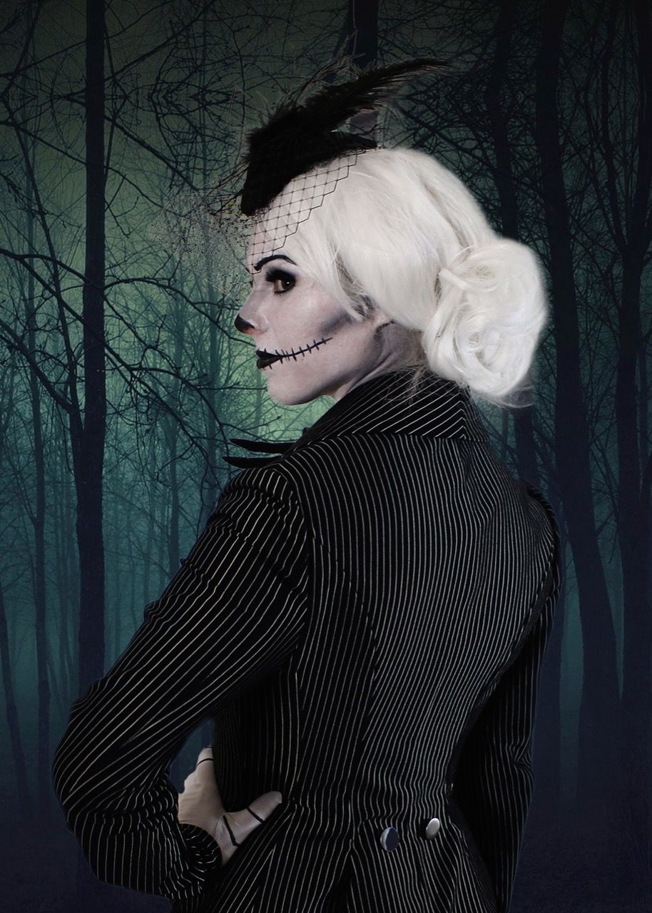 Jack Skellington costume female gender bender. Well done