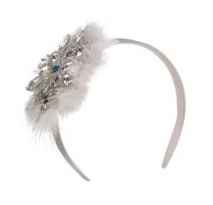 9.99 Snowflake Fascinator Headband at Party City SKU  652689 ... e9909e25f14