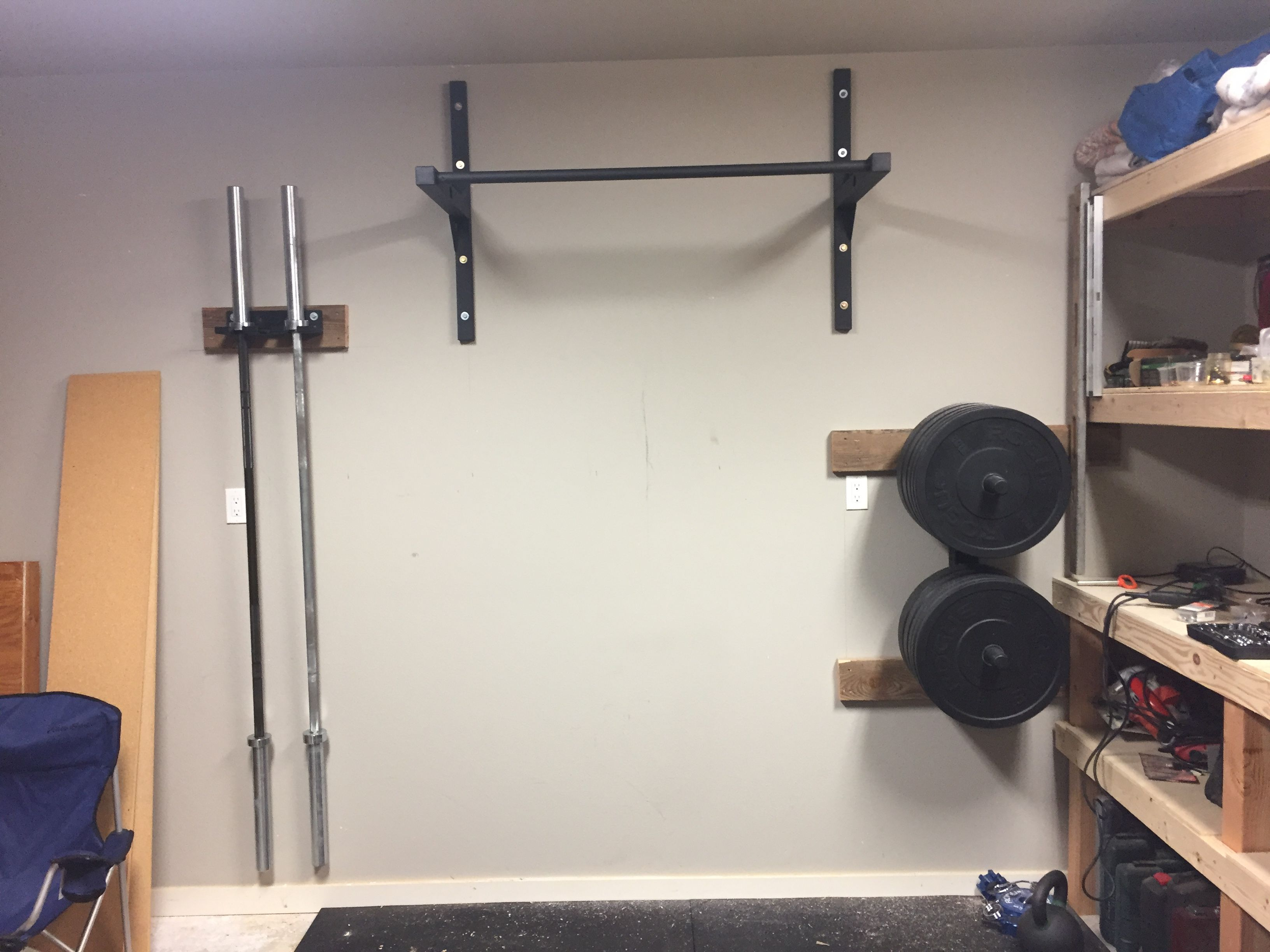 Stud Bar Ceiling Or Wall Mounted Pull Up Bar Diy Home Gym Gym