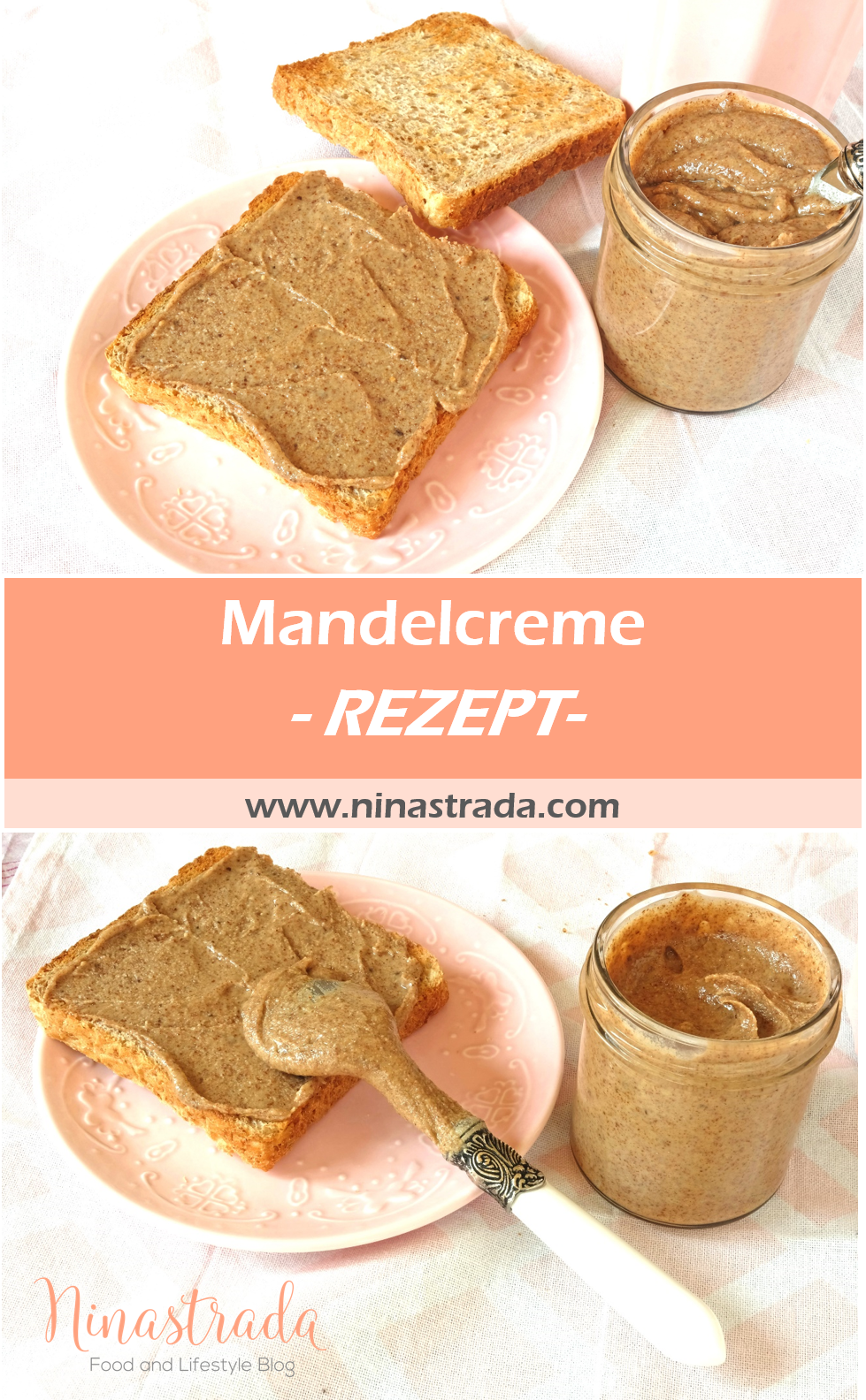 Photo of Gesunde Alternative zu Erdnussbutter: Mandelcreme | Food Blog ninastrada