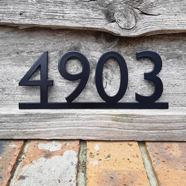 Black House Number House Numbers House Number Plaque Front