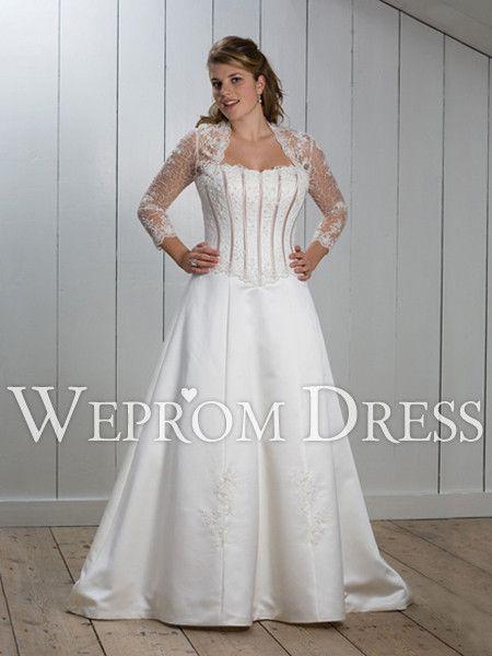 https://www.vestidos de novia mangas largas en shantung - Buscar con ...