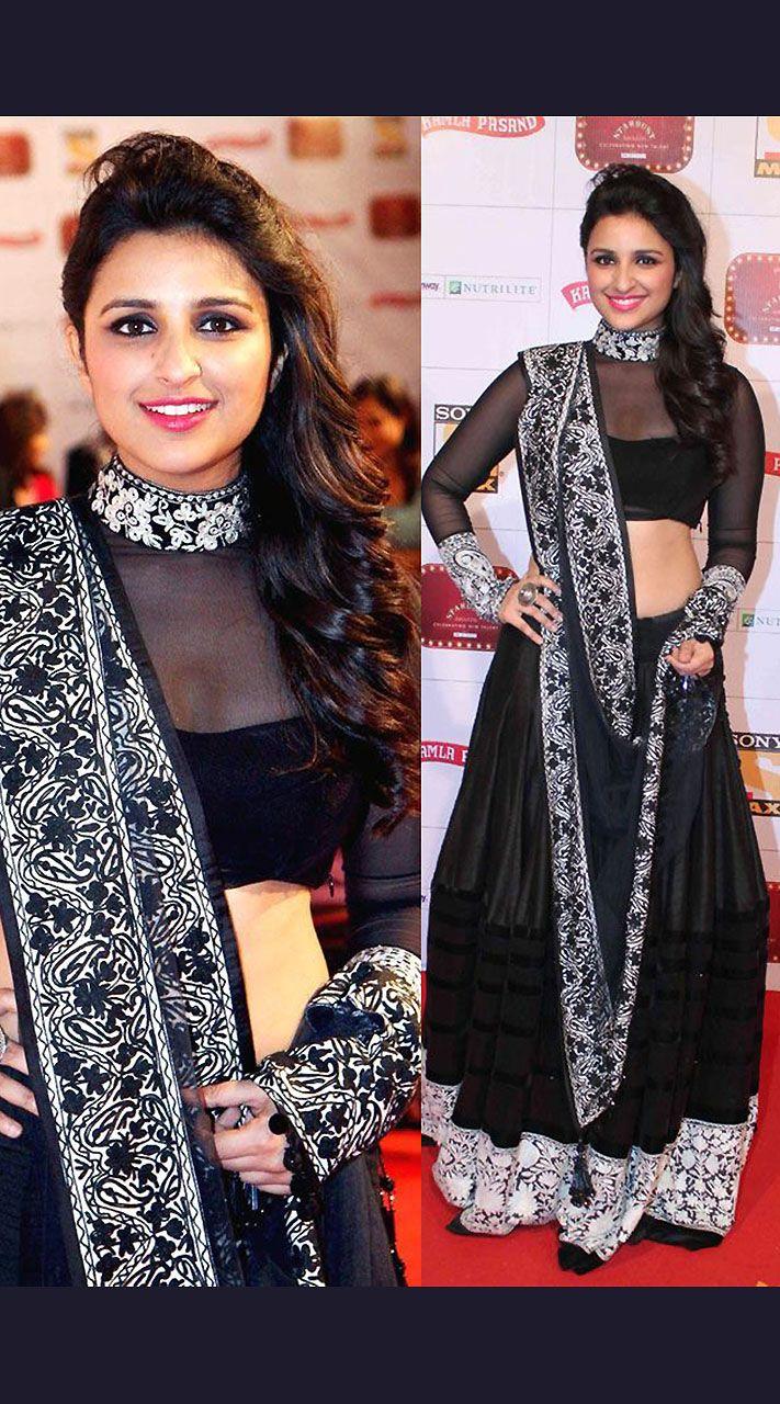 Parineeti Chopra At stardust award Black Bollywood Replica ...
