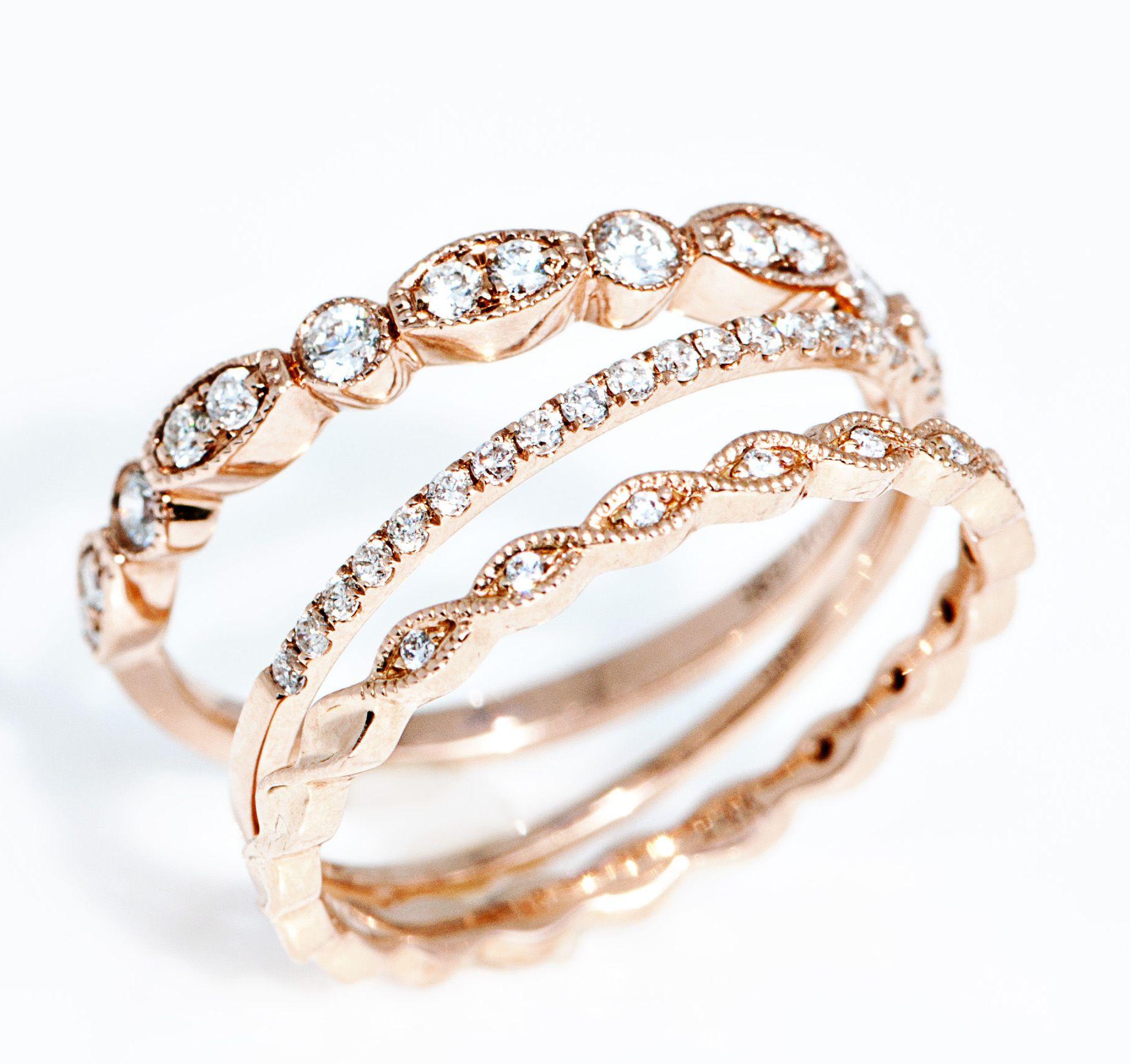 best 25 rose gold stackable rings ideas on pinterest. Black Bedroom Furniture Sets. Home Design Ideas