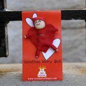 Valentines Heart Worry Dolls Guatemalan Textiles 100% Authentic Guatemalan Handc..., ,  #authentic #dolls #Guatemalan #handc #handcraftsdress #HEART #Textiles #valentines #Worry