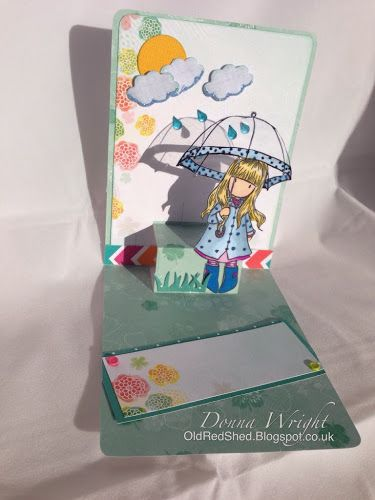 Donna Wright using the Pop it Ups Lots of Pops die by Karen Burniston for Elizabeth Craft Designs - Old Red Shed: Gorjuss girl lots of pops card...